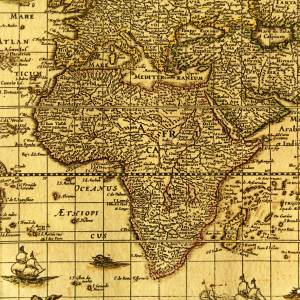 old-paper-africa-map
