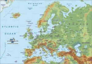 Europe map image