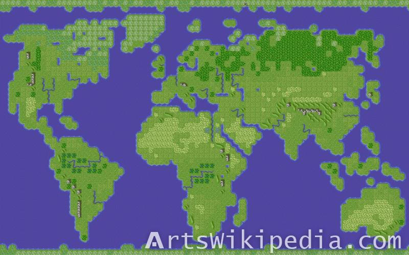 world map game style