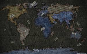 world map in jeans