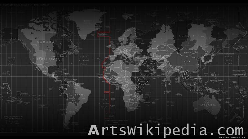 world map grid