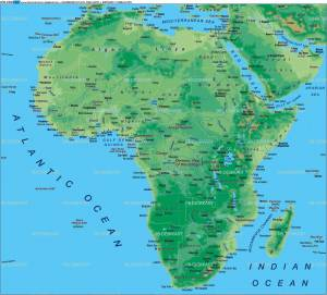 free-africa-map