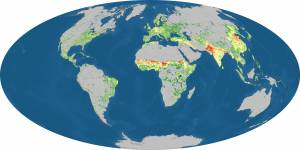 earth population map