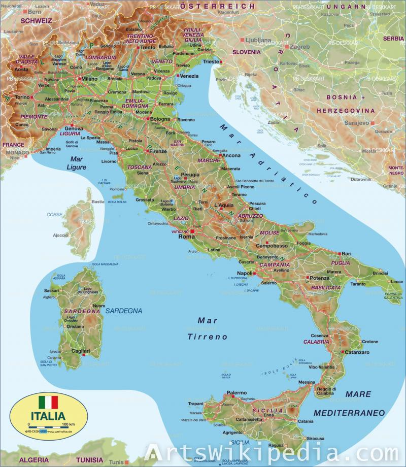 Italy Map image