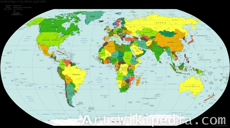 HD Earth map