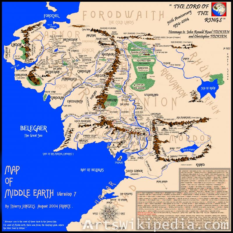 Middle earth maps