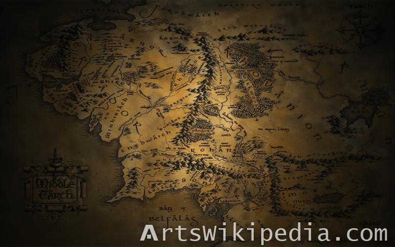 middle earth ancient map