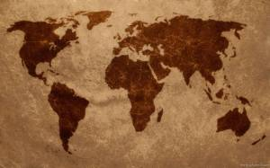 earth-map-brown-art-work