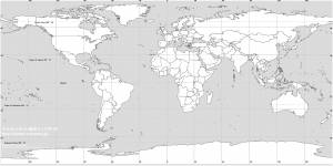 free white and gray earth map