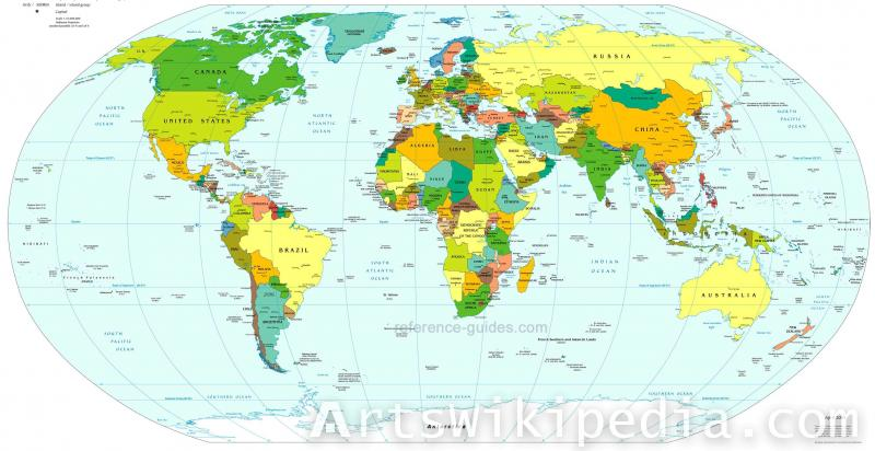 free Russian earth map