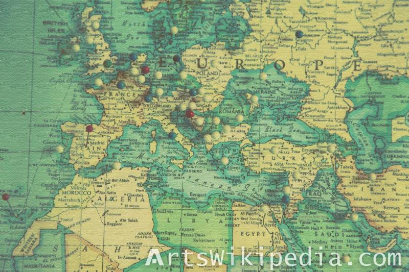 Europa map old map