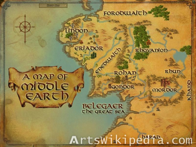 A map of the Middle earth
