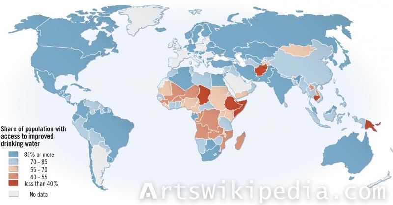 Population earth map illustration