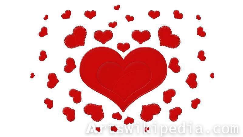 valentine, heart , romantic , red