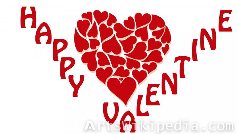happy valentine ,heart , romantic, red