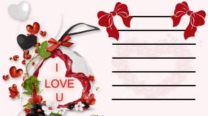 valentine ,heart , romantic , txt, Bow,line,flower