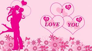 i love you pink image