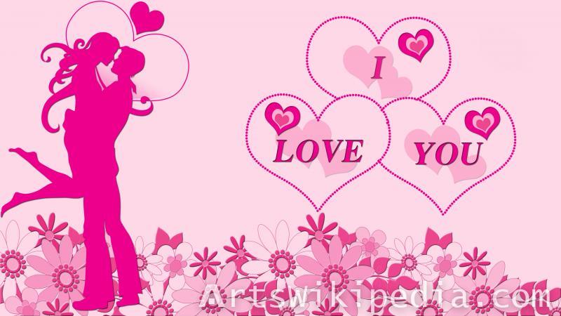 i love you pink image