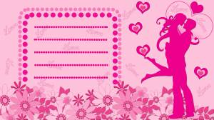 love card pink color