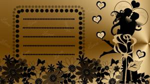 love card gold color