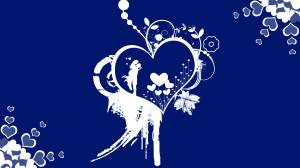 blue romantic wallpaper of lovers