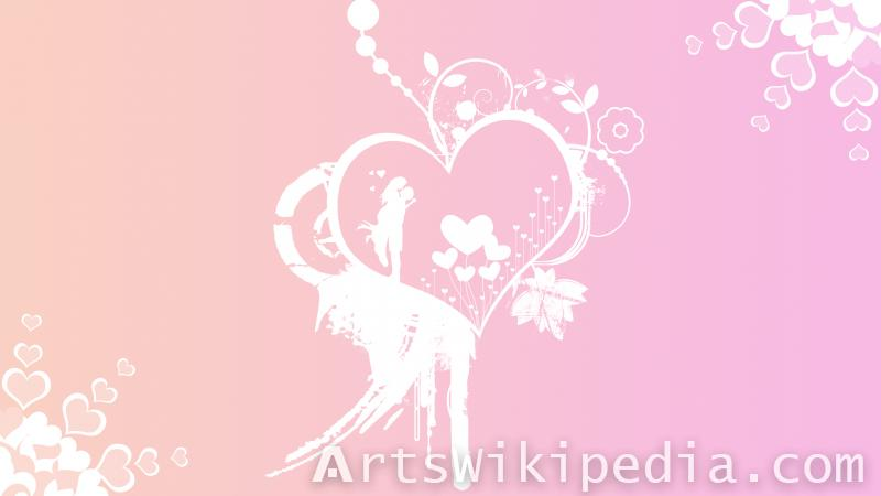 white pink romantic wallpaper of lovers