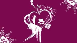 purple romantic wallpaper of lovers