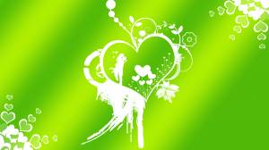 green romantic wallpaper of lovers