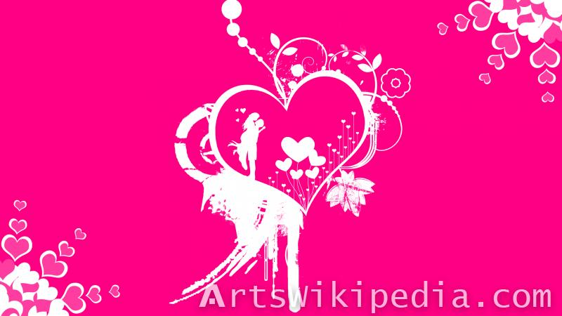 dark pink romantic wallpaper of lovers
