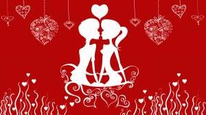 valentine's day kiss image