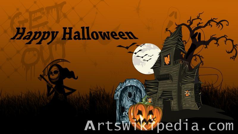 happy halloween death image