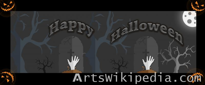 burial ground for happy halloween image