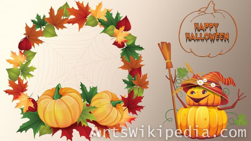 happy halloween text image