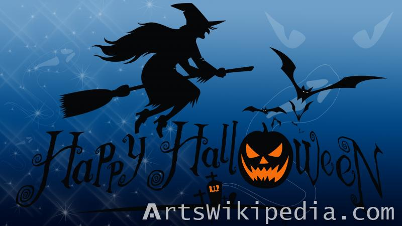 happy halloween with witch image