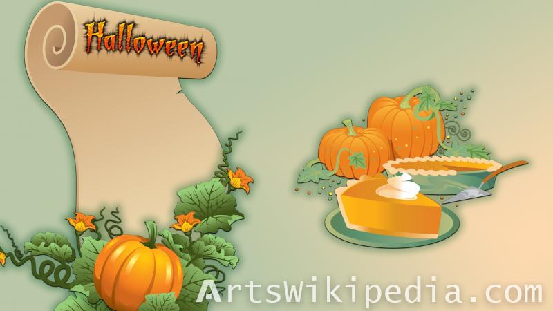 happy halloween text wallpepar