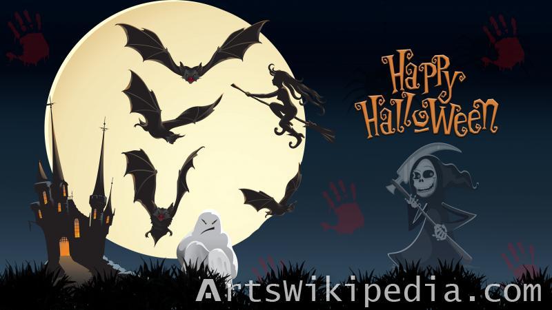 happy halloween scary night wallpaper