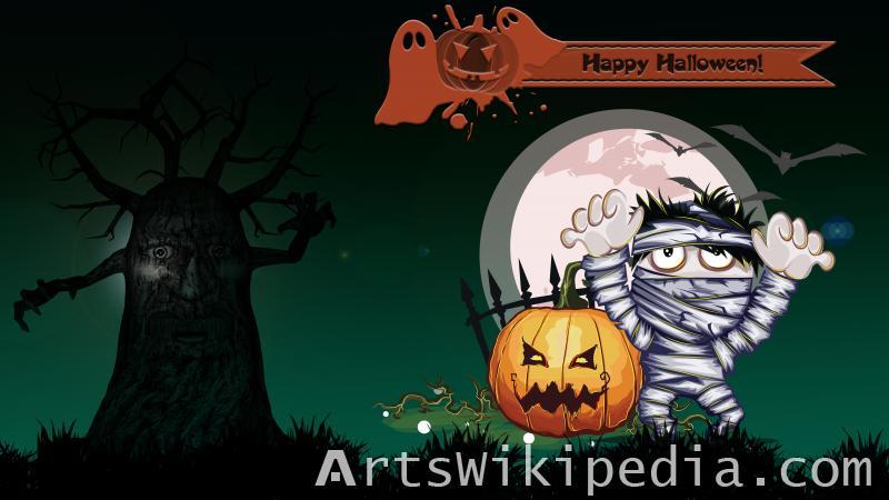 happy halloween horror picture