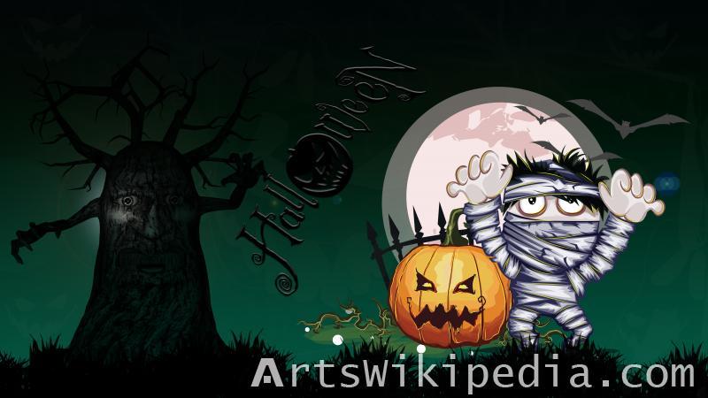 happy halloween horror wallpaper