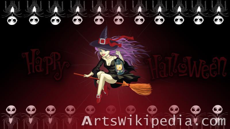 halloween witch wallpaper