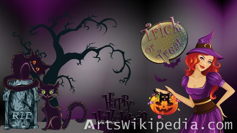 happy halloween trick or treat wallpaper
