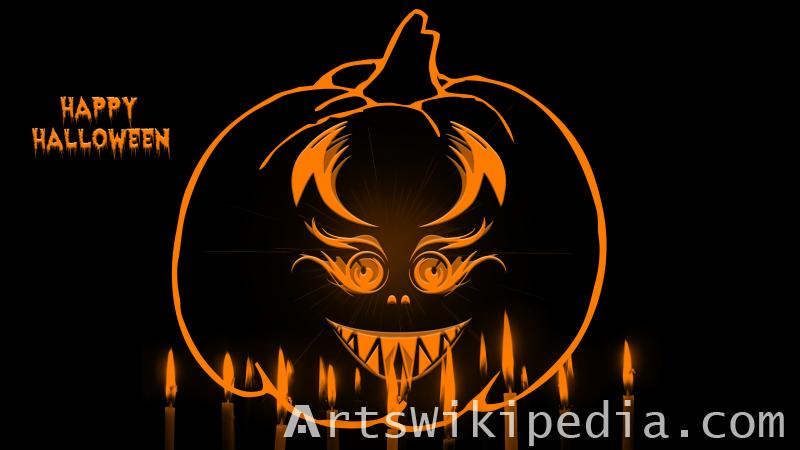 scary pumpkin for halloween image
