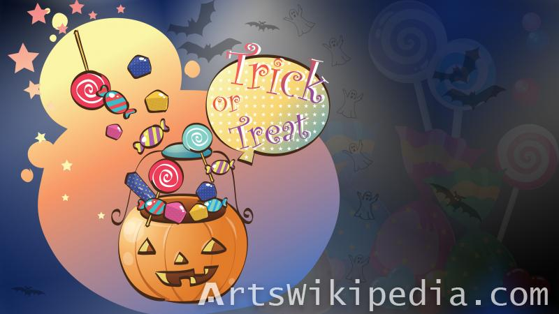 halloween trick or treat cartoon image
