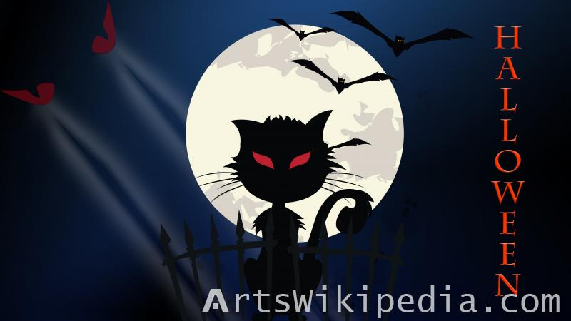 happy halloween frightful night wallpaper