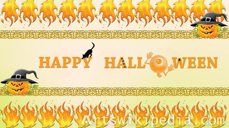 halloween fire wallpaper