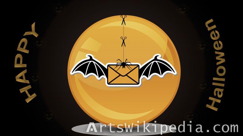 happy halloween card wallpaper