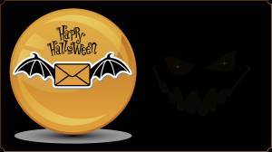 happy halloween card and text image