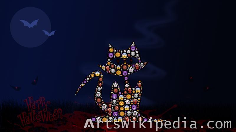 cat halloween image