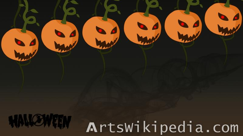 happy halloween scary pumpkin wallpaper