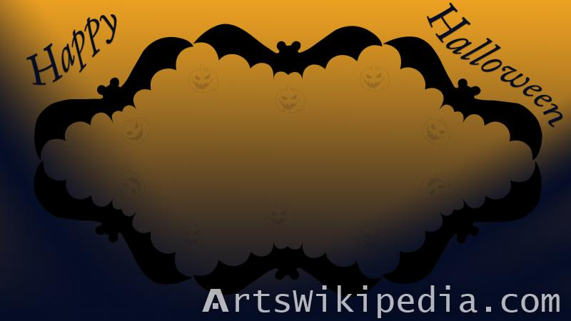 happy halloween bat Frame wallpaper