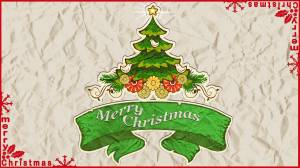 merry christmas card wallpaper